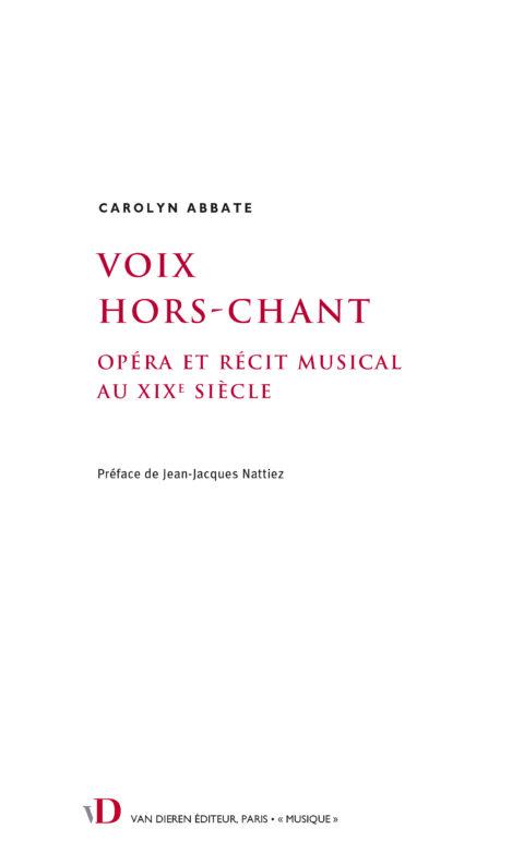 Voix Hors-Chant