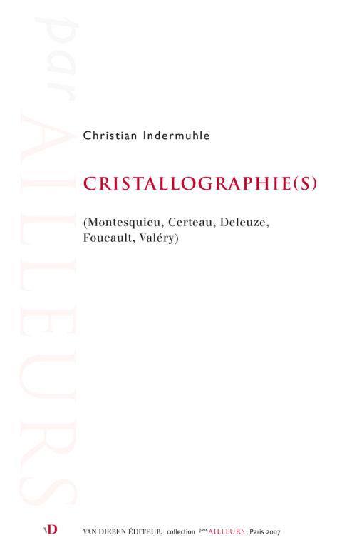 Cristallographie(s)